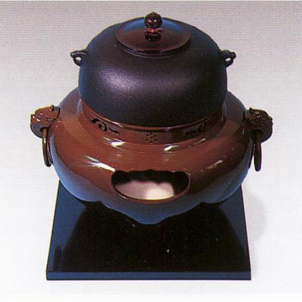 茶道具 風炉 合金製 鬼面風炉 ※この商品は取り寄せ品になります。