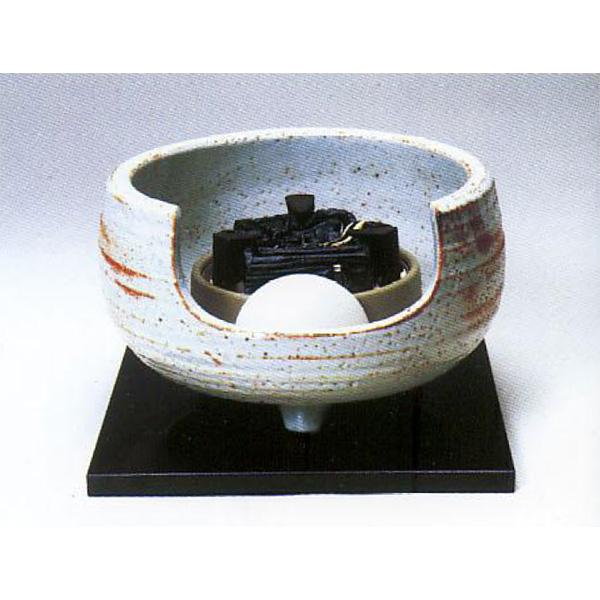 茶道具 風炉 志野 道安型 荒木俊碩作 ※この商品は取り寄せ品になります。