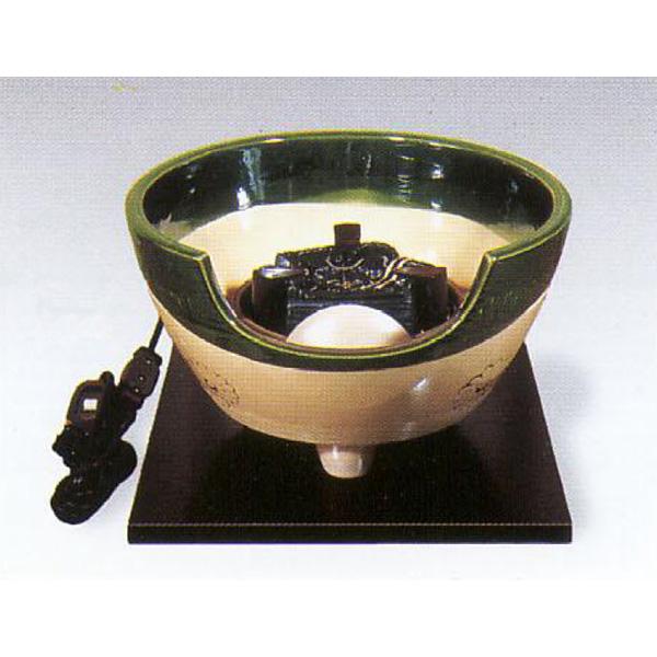 茶道具 風炉 織部 紅鉢型 荒木俊碩作 ※この商品は取り寄せ品になります。
