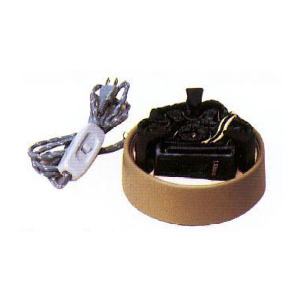 茶道具 風炉 風炉用炭型ヒーター(耐熱袋打コード使用) ※この商品は取り寄せ品になります。