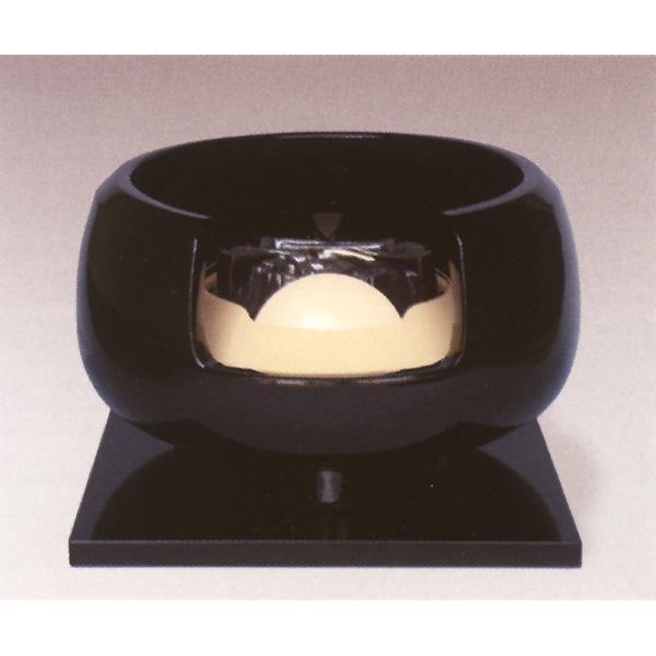 茶道具 風炉 真塗道安 小 面取り ※この商品は取り寄せ品になります。