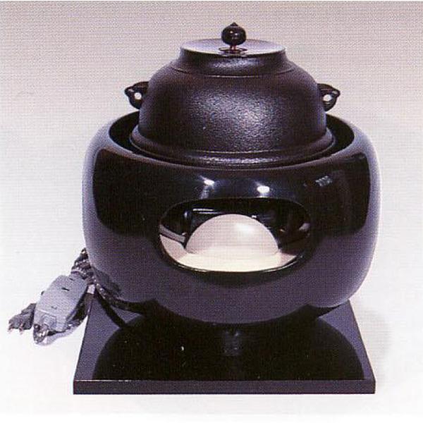 茶道具 風炉 合金製 眉風炉(真黒)(釜は別) ※この商品は取り寄せ品になります。