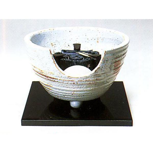 茶道具 風炉 志野 紅鉢型 荒木俊碩作 ※この商品は取り寄せ品になります。