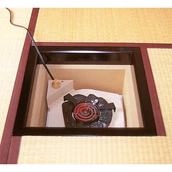 茶道具 炉縁 炉・置炉用 炭型シーズヒーター500w ※この商品は取り寄せ品になります。