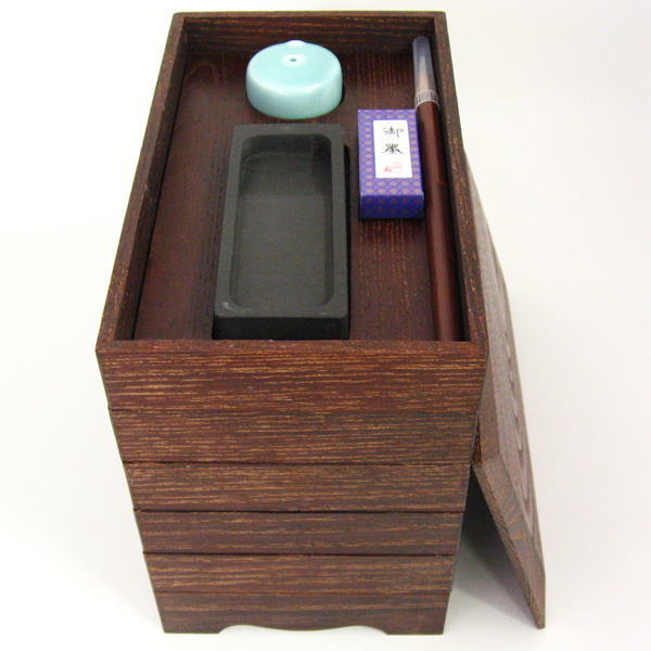 茶道具 五段重硯箱 女桑 幸斎 硯箱(茶道具 通販 )