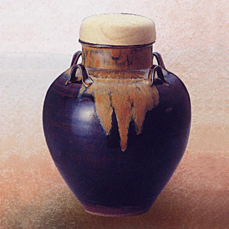 茶道具 飾壺 高取焼(正絹網・正絹紐・正絹おおい付) 雪山窯 口切り(茶道具 通販 )