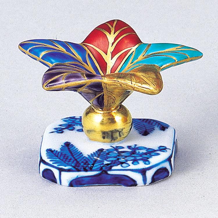 茶道具 色絵 突羽根 高野昭阿弥(京都市) 蓋置(茶道具 通販 )