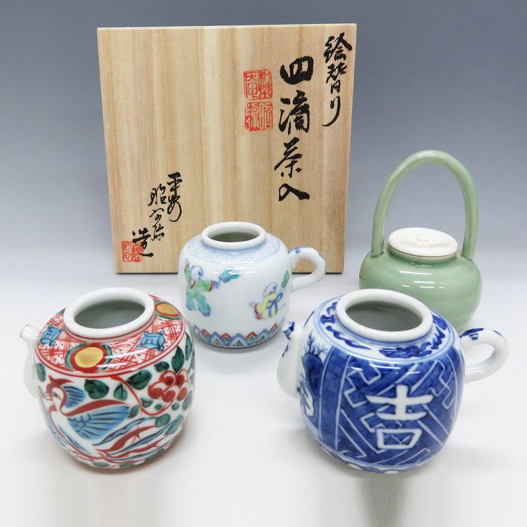 茶道具 四滴茶入 絵変り 高野昭阿弥(京都市) (茶道具 通販 )