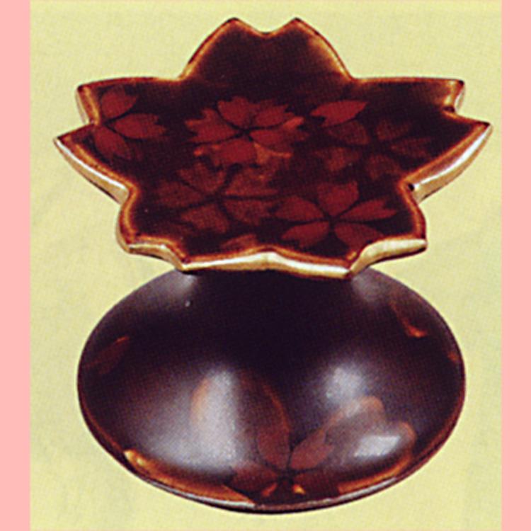 茶道具 蓋置 飴釉 桜散し 寺尾陶象 蓋置(茶道具 通販 )