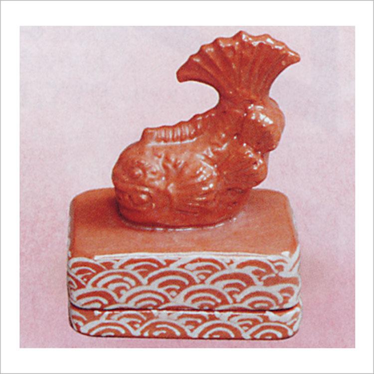 茶道具 香合 鯱鉾 川崎和楽 香合(茶道具 通販 )
