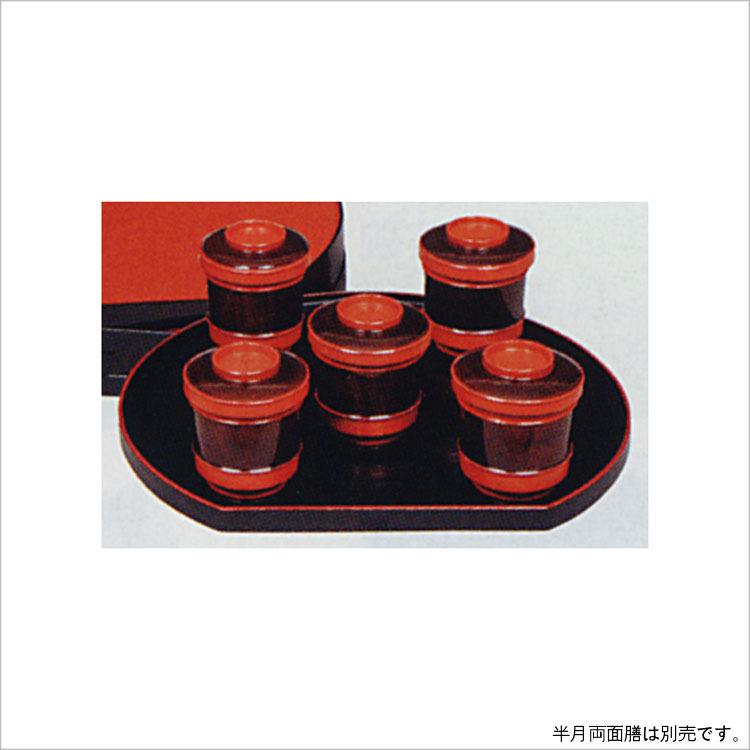 茶道具 箸洗 朱刷毛目 目摺り 五客 木製 (茶道具 通販 )