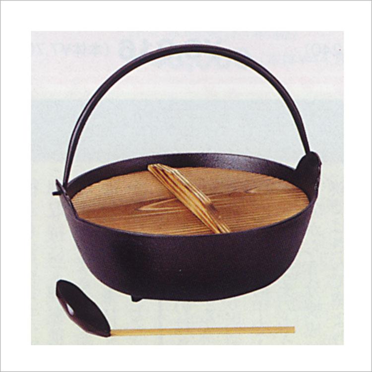 茶道具 鉄鍋 大 杓子付 (茶道具 通販 )