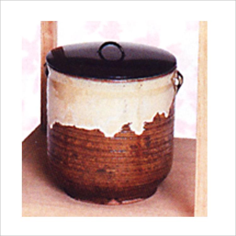 茶道具 水指 高取写 耳付 中村与平 水指(茶道具 通販 )