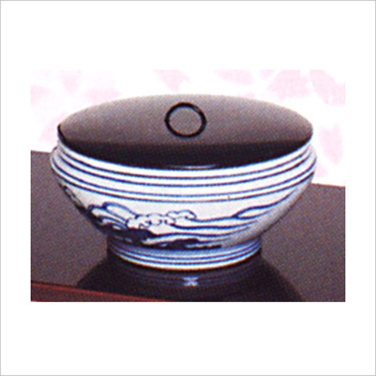 茶道具 水指 染付 桜川 御室窯 (茶道具 通販 )