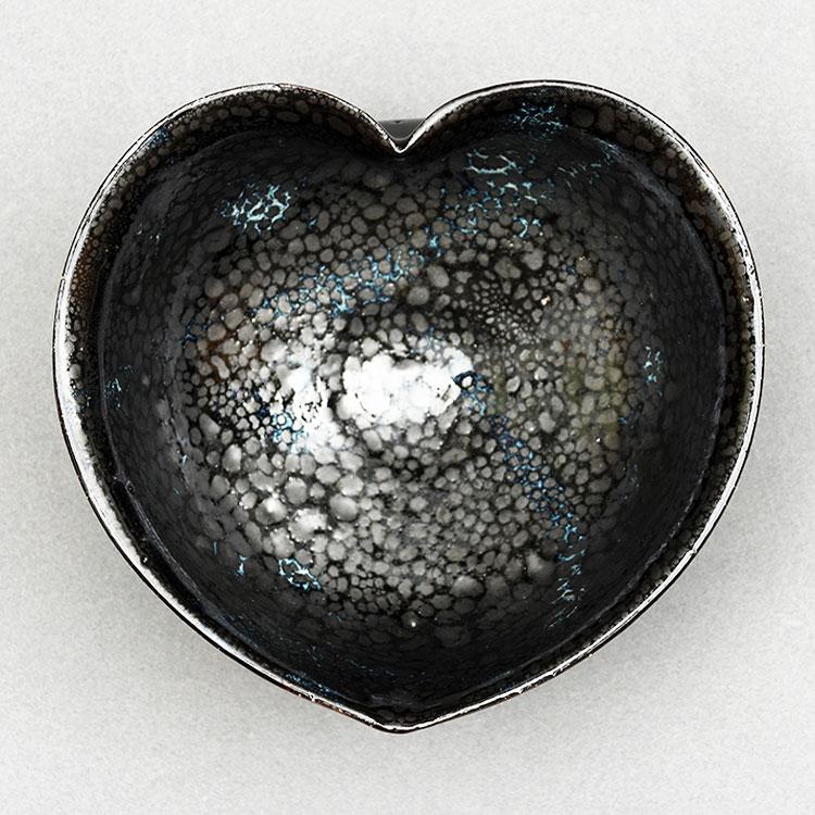 茶道具 抹茶茶碗(まっちゃちゃわん) 茶碗 油滴 猪目(ハート型) 小野 穣