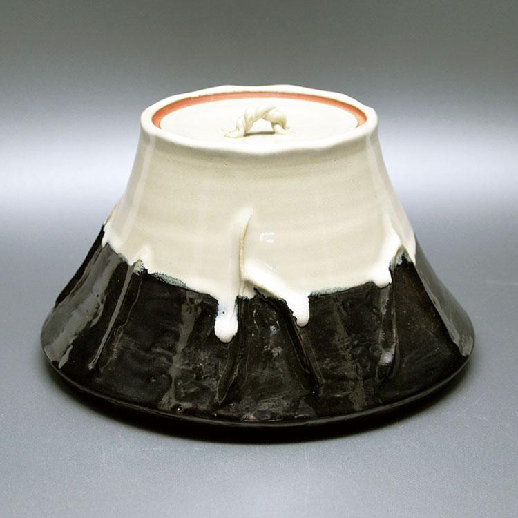 茶道具 水指(水差・みずさし) 富士山水指 西尾 香舟 作