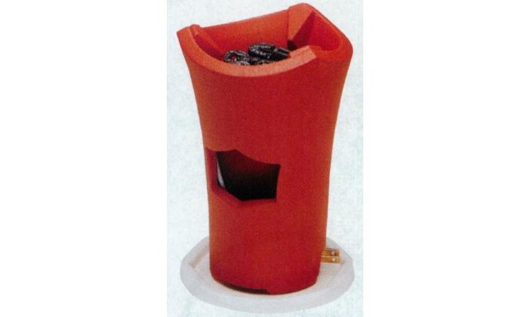 茶道具 涼炉 朱泥(電熱式) ※この商品は取り寄せ品になります。