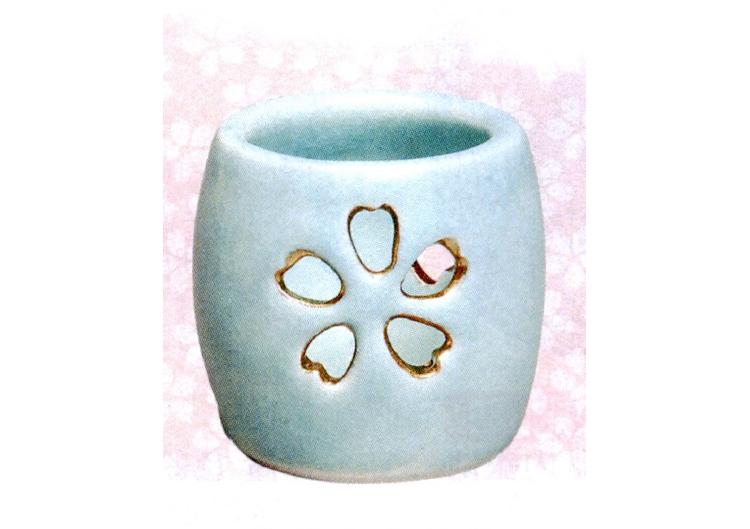 茶道具 蓋置 青磁 花透 加賀瑞山作 蓋置