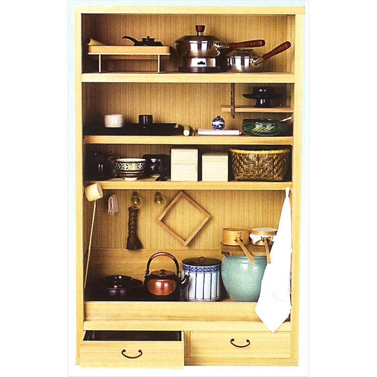 茶道具 置水屋 柾 大●写真は使用例です。商品名以外のものは別売です。 置水屋(茶道具 通販 )