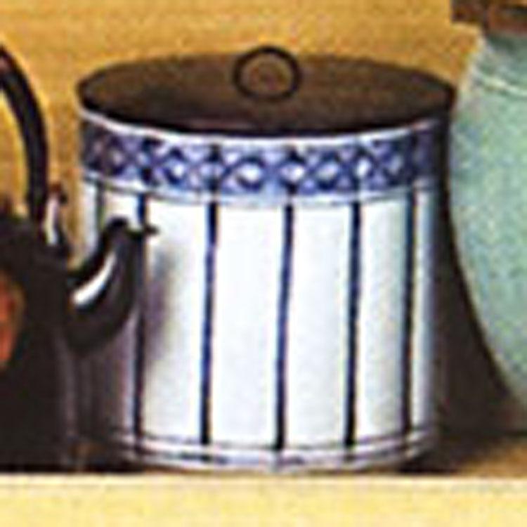 茶道具 水指 染付 桶側 御室窯 水指(茶道具 通販 )