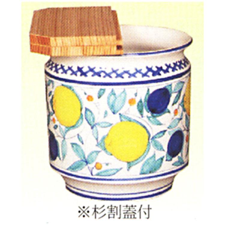 茶道具 水屋瓶 イタリア 果実模様 杉割蓋付 水屋瓶(茶道具 通販 )