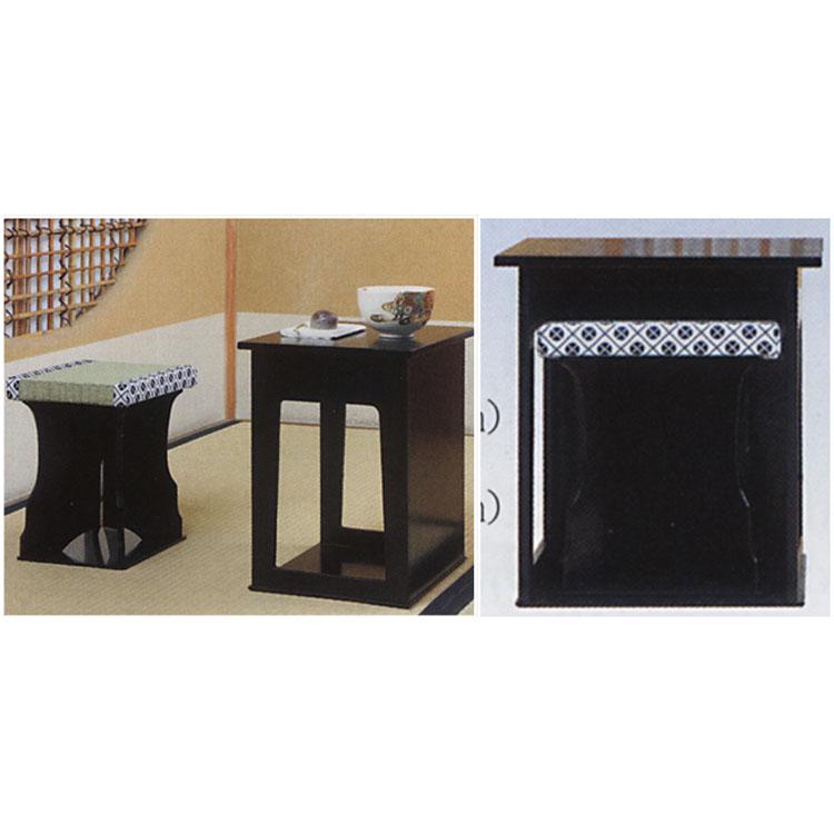茶道具 近藤さんのちょっと椅子 黒掻合塗●商品名以外のものは別売です。 (茶道具 通販 )