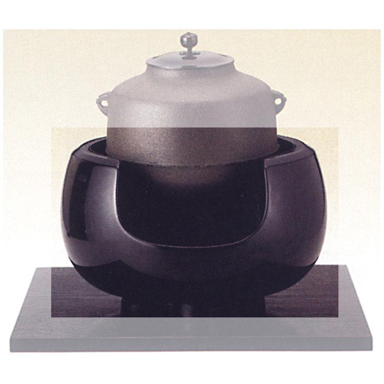 茶道具 土風炉 面取尺一 黒 (五徳別売)●商品名以外のものは別売です。 宗伴 土風炉(茶道具 通販 )