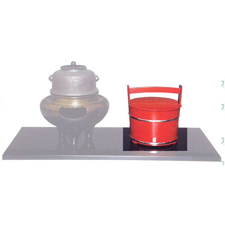 茶道具 手桶水指 朱 銀箍●商品名以外のものは別売です。 水指(茶道具 通販 )