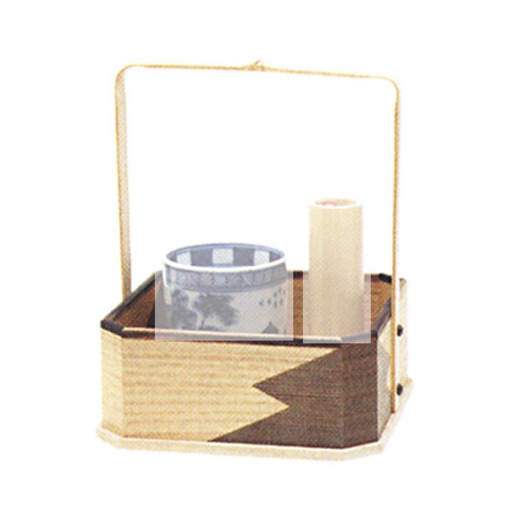 茶道具 四方手付莨盆 片身変●商品名以外のものは別売です。 中村宗悦 莨盆(茶道具 通販 )