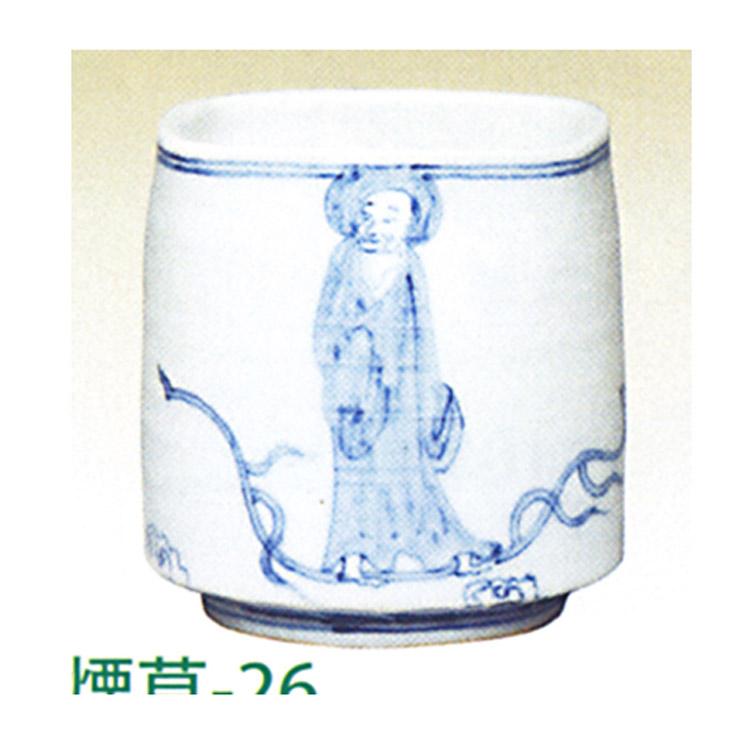 茶道具 火入 染付羅漢四方 景徳鎮 王懐英 火入(茶道具 通販 )