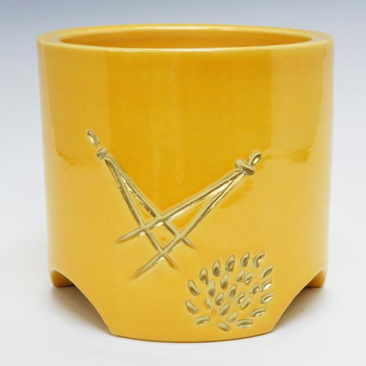 茶道具 火入 黄釉 松葉 松楽(茶道具 通販 )