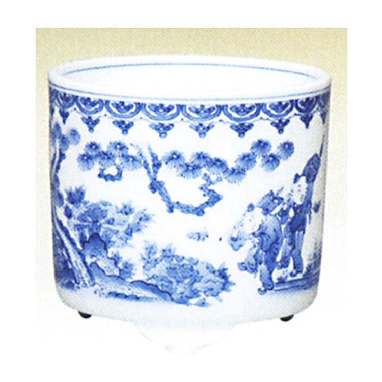 茶道具 火入 白磁 染付唐子 横石嘉助 火入(茶道具 通販 )