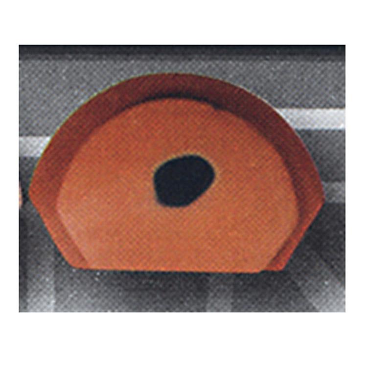 茶道具 前瓦 雲華 赤 小 (切合・紅鉢に)●写真はイメージです。 崇白 前瓦(茶道具 通販 )