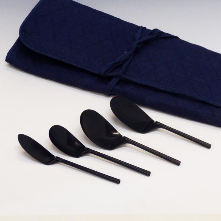 茶道具 4本組灰匙 布袋付 一政堂 灰匙(茶道具 通販 )
