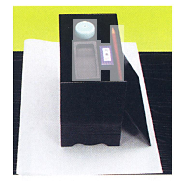 茶道具 五段重硯箱 黒掻合塗●商品名以外のものは別売です。 湖彩 硯箱(茶道具 通販 )