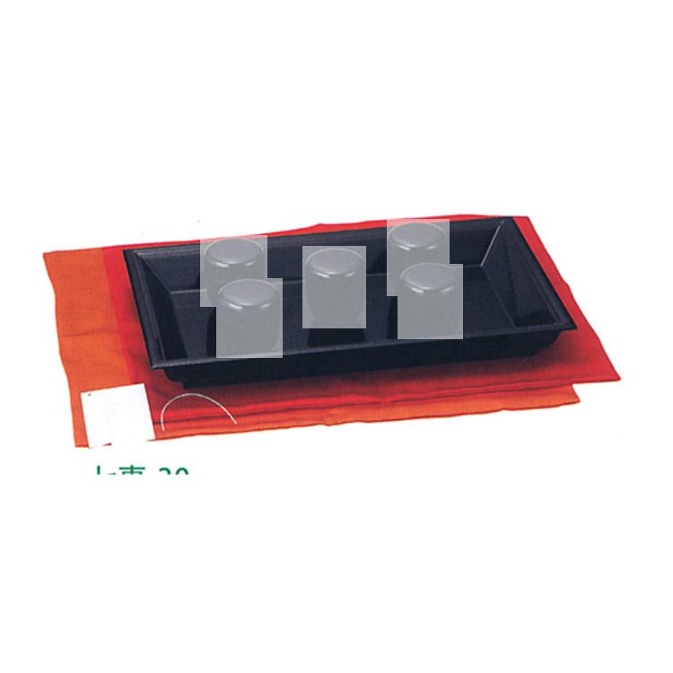 茶道具 茶歌舞伎盆セット 赤 [名乗紙・帛紗・茶歌舞伎盆 (木製)]付●商品名以外のものは別売です。●帛紗の色は赤色のみです。 茶歌舞伎盆(茶道具 通販 )