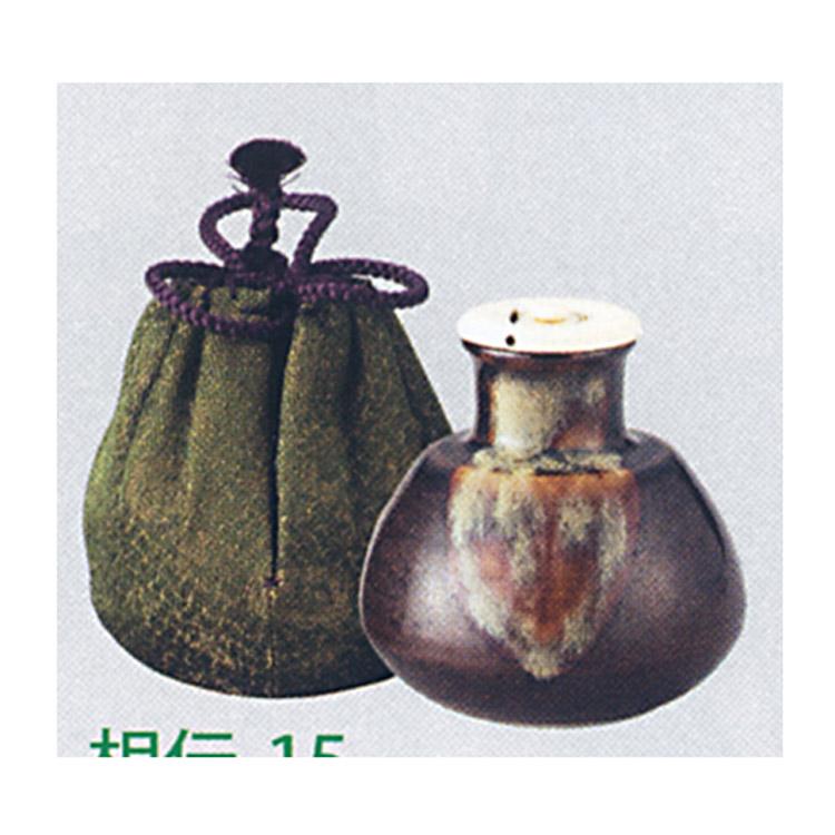 茶道具 茶入 志野丸壺 大名物写 仕服:下妻緞子 陶若窯 茶入(茶道具 通販 )