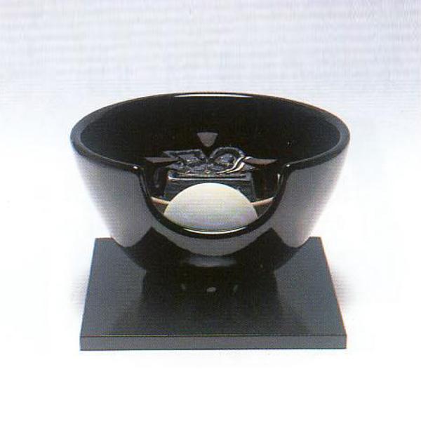 茶道具 風炉(ふろ) 電熱式 (陶製) 黒・紅鉢型 100V/400W ※この商品は取り寄せ品になります。