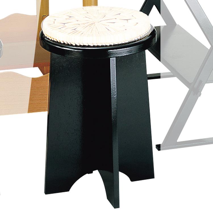 茶道具 立礼棚(りゅうれいだな) 円椅 掻合塗 裏用 1客 円座別 中村 宗悦