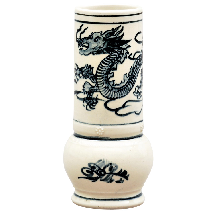 茶道具 花入(はないれ) 花入 染付 雲竜下蕪 越南製