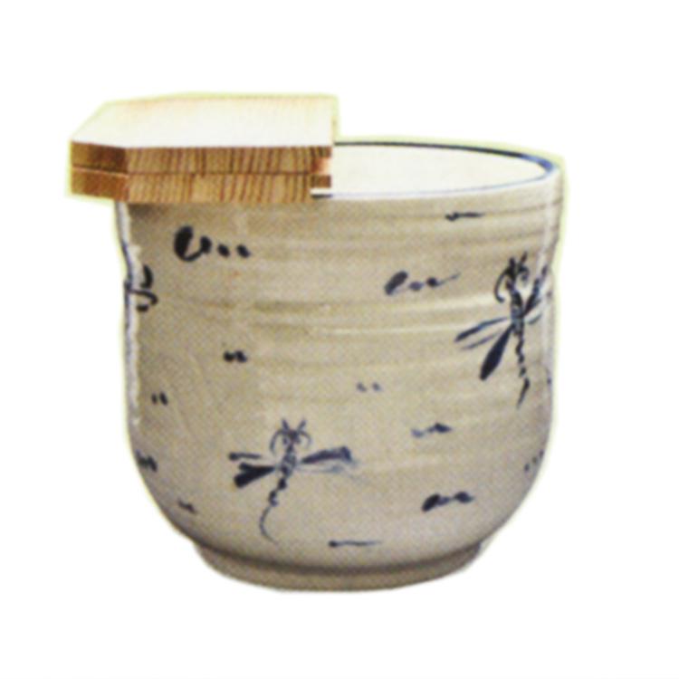 茶道具 水屋瓶(みずやがめ) 水屋瓶 安南トンボ 大 ※杉割蓋付 五陶 作