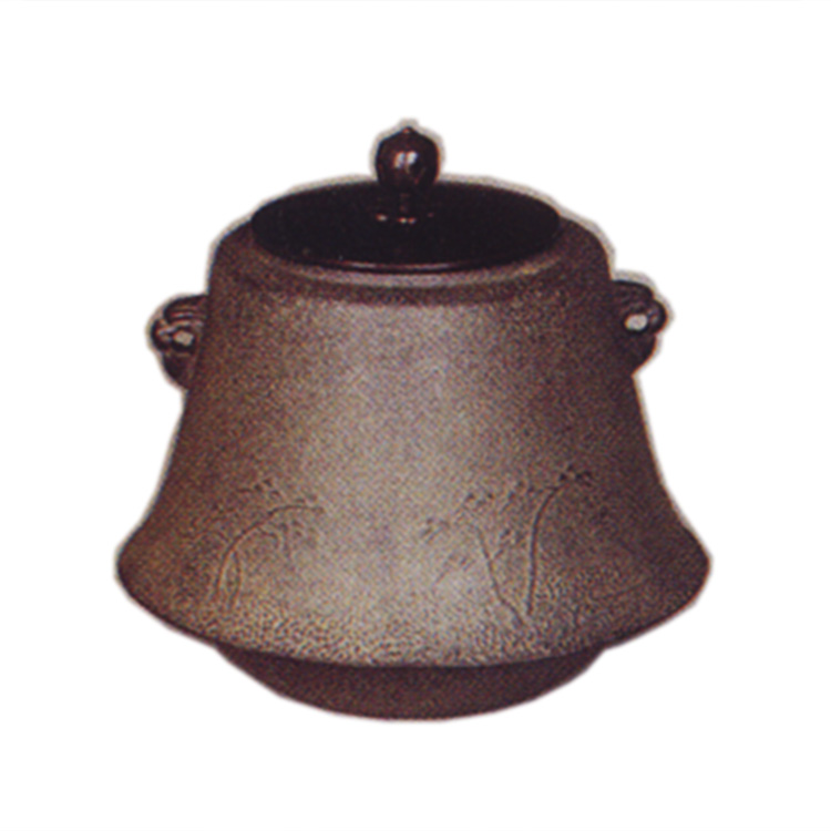 茶道具 風炉釜(ふろがま) 小釜 浜松地紋 富士 菊地 政光 作