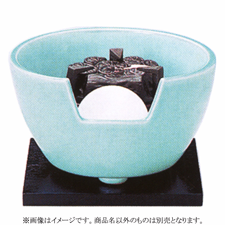 茶道具 風炉(ふろ) ヤマキ製電熱式紅鉢 青磁 100V/200W/500W