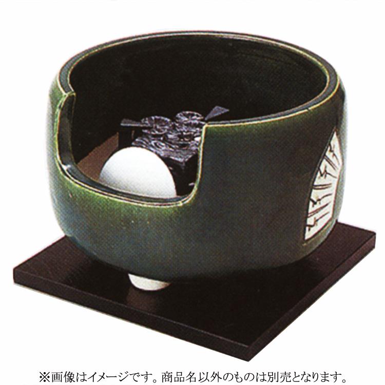 茶道具 風炉(ふろ) ヤマキ製電熱式道安 織部 100V/200W/500W