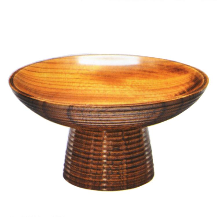 茶道具 菓子器(かしき) 高杯 欅 湖彩