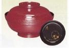 茶道具 煮物椀 朱塗 木瓜形 蓋裏雪月花 木製(五客)宗悦作 化粧箱【茶道具 煮物椀 煮物碗 通販】