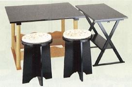 茶道具 点茶盤 掻合塗 裏用セット(点茶盤・喫架・円椅2客)