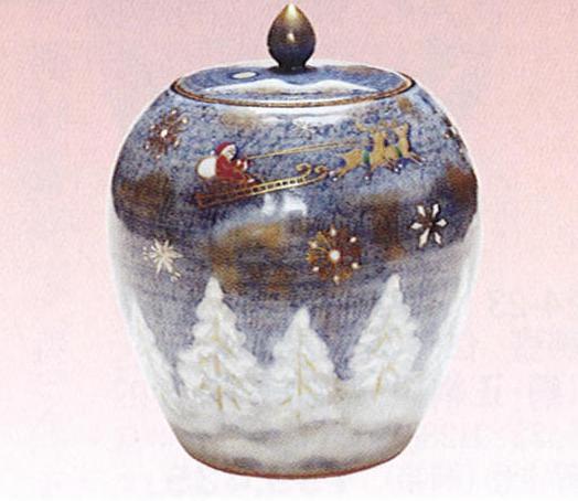 茶道具 水指 雪華クリスマス 寺尾陶象作 桐箱【茶道具 水指 みずさし 通販】