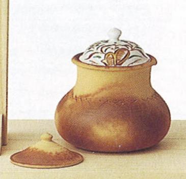茶道具 ハンネラ水指 替蓋付 太仙窯 桐箱【茶道具 水指 みずさし 通販】