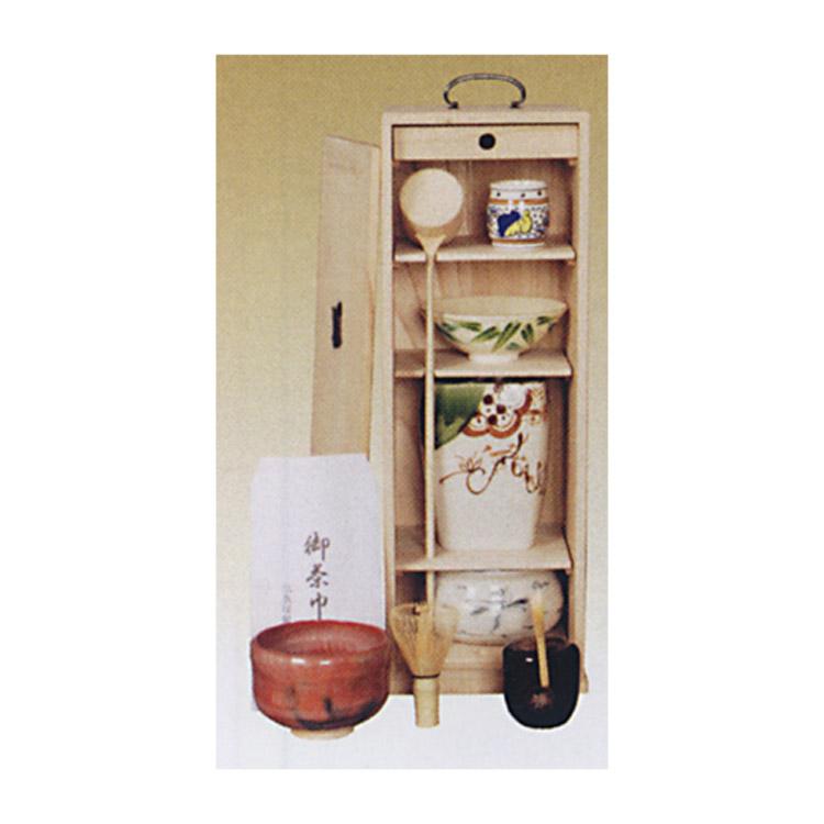 茶道具 短冊箱 桐木地●写真は使用例です。商品名以外のものは別売です。 短冊箱(茶道具 通販 )